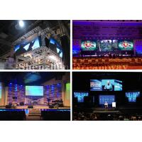 Quality Dust Proof Indoor Led Stage Screen Rental , Clear Led Video Wall Rent For Church for sale