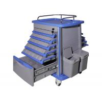 Quality Easy Cleaning Plastic Medical Trolley , Emergency Medicine Trolley Moving Smoothly for sale