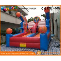 Buy cheap 0.55 MM PVC Tarpaulin Inflatable Sports Games Hot Inflatable Basketball Hoop Giant product
