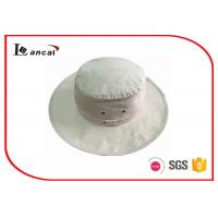 Quality 100% Linen Cream Color Sunscreen 60cm Cool Bucket Hats For Men for sale