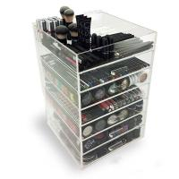 Buy cheap 7 Tier Makeup Acrylic Display Box With Drawers For Shopping Mall from wholesalers