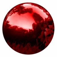 Quality 30CM/12 Inch Red Gazing Hollow Metal Balls Globe Mirror , Stainless Steel Sphere for sale