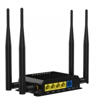 Quality Black Long Range WE826-T2 4G Wifi 300mbps Openwrt Router With Sim Slot for sale