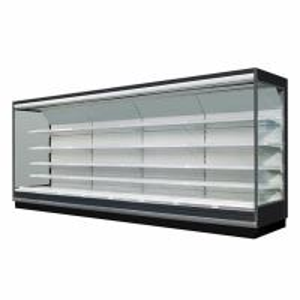 Supermarket Open Display Fridge with Adjustable Shelving And LED Lighting