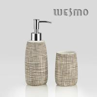Quality Coffee Color Low Water Absorption Porcelain Bathroom Accessories With OEM ( WBC0644A) for sale