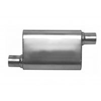 Quality Performance 4 In. X 9 In. SS409 Oval Exhaust Muffler for sale