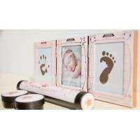 Quality Newborn Baby Handprint and Footprint Photo Frame Kit with an Baby-safe Ink Pad baby birth certificate keepsake for sale