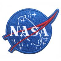 China NASA Patches Polyester Custom Woven Patches Embroidered For Garment on sale