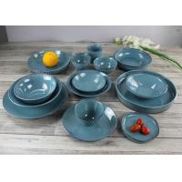 China Japanese Style Ceramic Dinnerware Emerald Green Stoneware Cultery on sale