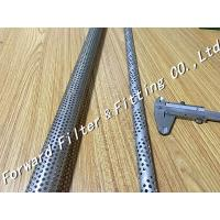 Buy cheap Straight Seam Welded Perforated Steel Pipe For Oil / Water , SUS304 Materials product