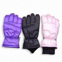 Quality Sports Ski Glove, Made of 100% Polyester for sale