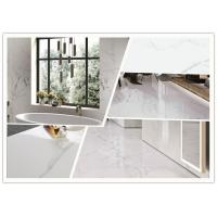 Quality Super White Carrara Polished Porcelain Tile 24x48 Size 12 Mm Thickness for sale