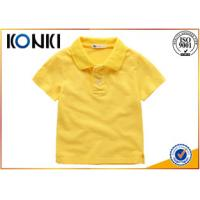 China Cotton Uniform Custom Embroidered Polo Shirts Kids With Soft Material on sale