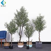Indoor Faux Potted Olive Tree , Artificial Ivy Tree 1.2m - 1.8m Height for sale