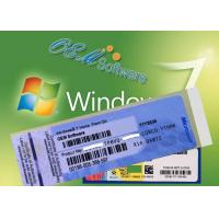 China Global Active Windows 7 PC Product Key , 100 % Online Windows Coa License on sale