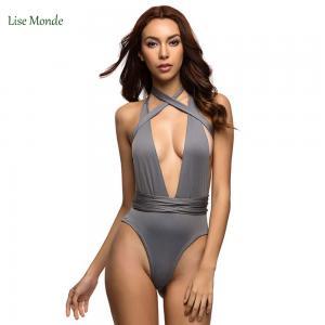China Varleinsar Sexy Deep V Neck wrap around High waist one piece swimsuit women swimwear Female bathing suit swim wear Monok on sale