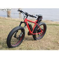 Quality Full Suspension Electric Fat Tire Mountain / Snow Bike 48 Voltage 1000 Watt for sale