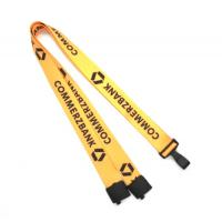 Quality Safety Break Away Heat Transfer Lanyard Yellow For Sport Games for sale