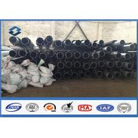 Quality 2 Segments Hot Dip galvanised steel pole Slip Joint  100% compelete Penetration for sale