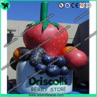 Quality Inflatable Strawberry,Inflatable Grape, Advertising Inflatable Fruits Replica for sale