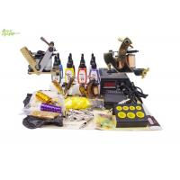 China Complete Tattoo Starter Kits With 4 Bottles 5ml Color Ink 2 Tattoo Machine on sale