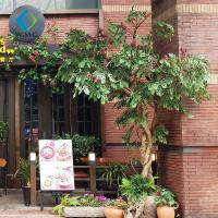 Outdoor Fake Lagerstroemia Indica Tree For Corner Decoration 3m Height for sale