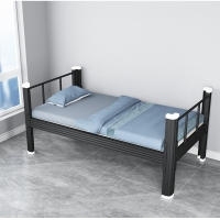 Quality Customized Home Furniture H720mm Metal Single Bed Heavy Duty Single Steel Bed for sale