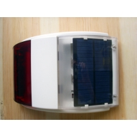 Quality Solar-powered Wireless outdoor solar alarm siren with strobe Light and 110db for sale