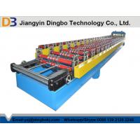 Quality Corrugated Roofing Sheet Roll Forming Machine With Hydraulic Cutting Touch Screen for sale