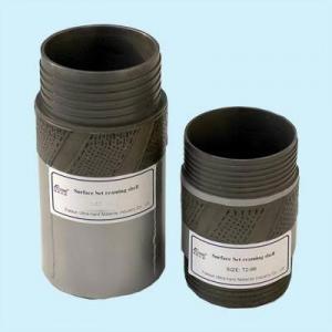 Quality Geological Surface Set Diamond Reaming Shells BQ NQ HQ RQ PQ with Core Bit for sale