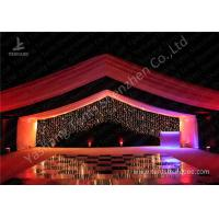 Quality Luxury Marquees For Weddings Decorated with Noble and Gorgeous Linings and Lightings for sale