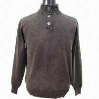 Quality 2013 Men's Sweater/Pullover with Turtle Neck, Long Sleeve and Stone Washed for sale