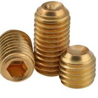 China Brass Hex Socket Head Grub Screw With Cup Point For Automobile Industry on sale