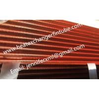 Quality Tension Wound Single Row Flat Fin Tube For Air Cooled Condenser for sale