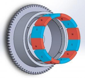 China Durable Customized Flywheel Arc Shaped Segment Ferrite Magnet on sale