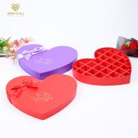 China 1200g Grey Cardboard Paper Heart Shaped Chocolate Box Packaging With Divider Insert on sale