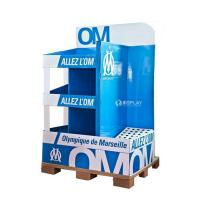 Quality Creative Pop Advertisement Display Stands , Exhibition Cardboard Display Shelves for sale