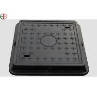 Quality EN124 Class D400 Ductile Cast Iron Manhole Cover With Frame , Custom Size EB13008 for sale