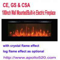 Buy cheap 100-Inch Electric Fireplace Black with crystal flame from wholesalers