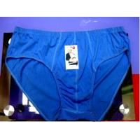 Quality Eco - Friendly Custom Blue Cotton 95% Spandex 5% Plus Size Mens Underwear Briefs for sale