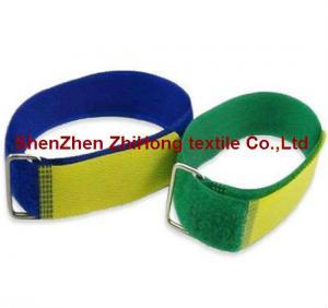 Quality Adjustable stainless steel buckle Velcro hook loop cable bundles for sale