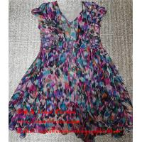 Quality Hebei Factory Stock Second Hand Ladies Dresses Used Printed Pure Silk Skirt for sale