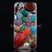 Quality Different Shape Rhinestone Stones 3D colourful Case For iPhone 5 for sale