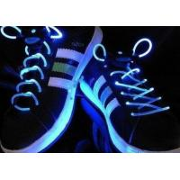 China Green LED Glowing Shoelaces on sale