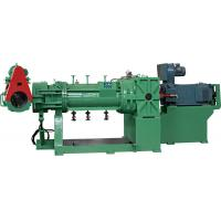 China Green Plastic Extruder Machine , Strainer Extruder With Electrical Control Cabinet on sale