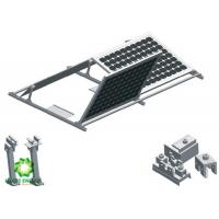 Quality 2020 Custom Silver Aluminum Brackets Solar Structure Ballasted Solar Mounting   Solar PV Ground Mount Systems for sale