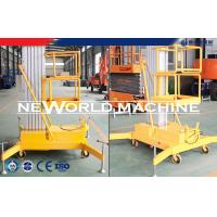 Quality 14M 100Kg 1.5Kw Single Aluminum Mast Lift Man Aerial Working Platform / Aerial Lift Safety for sale