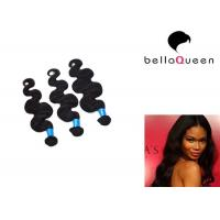 China Virgin Malaysian Hair Body Wave , Black Women Double Drawn Hair Extensions on sale
