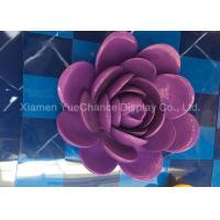 China Custom Purple Color Giant Fiberglass Statues , Resin Artificial Flower Easy Cleaning on sale
