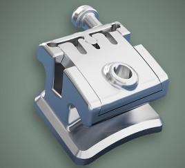 Quality Dental Orthodontic Instruments Metal Self - Ligating Bracket for sale